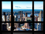 Window View  Hell's Kitchen District and Hudson River Views  Midtown Manhattan  New York