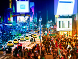Tilt Shift Series  Times Square  Manhattan  New York City  United States