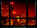 Window View  Special Series  the New Yorker at Red Night  Midtown Manhattan  New York  US  USA