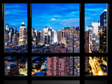 Window View  Theater District and Times Square at Nightfall  42 Street  Midtown Manhattan  NYC