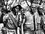 """The Three Soldiers"" Bronze by Frederik Hart at the Vietnam Memorial  Washington DC"
