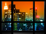 Window View  Special Series  the New Yorker Hotel  Empire State Building  Manhattan by Night  NYC