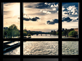 Window View  Special Series  Landscape View on Seine River and Eiffel Tower  Paris  France  Europe