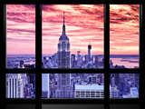 Window View  Special Series  Empire State Building View  Sunset  Manhattan  New York City  US