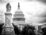The Capitol  US Congress  Washington DC  District of Columbia  Black and White Photography