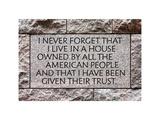 History Written in Stone Memorial Franklin Delano Roosevelt  Washington DC  White Frame