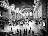 Lifestyle Instant, Grand Central Terminal, Black and White Photography Vintage, Manhattan, NYC, US Papier Photo par Philippe Hugonnard