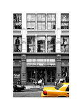 Urban Scene  Yellow Taxi  Topshop Store Front  Broadway  Soho  Manhattan  New York Colors