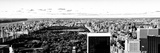 Landscape Panoramic Sunset  Central Park  New York  United States  Black and White Photography
