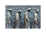 Hunger Sculpture of Memorial Franklin Delano Roosevelt  Washington DC  White Frame