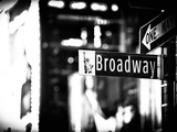 Urban Sign  Broadway Sign at Times Square by Night  Manhattan  New York  Classic