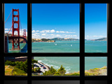 Window View  Special Series  Golden Gate Bridge  San Francisco  California  United States