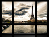 Window View  Special Series  the Eiffel Tower and Seine River Views  Paris  France  Europe