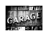 Garage Sign  W 43St  Times Square  Manhattan  New York  White Frame  Full Size Photography