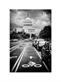 Bicycle Path Leading to the Capitol  US Congress  Washington DC  District of Columbia  White Frame