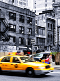 Urban Scene  Yellow Taxi  34th St  Downtown Manhattan  New York  United States  Art Colors