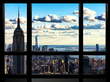 Window View  Empire State Building and the One World Trade Center (1WTC)  Manhattan  New York