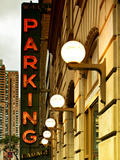 Garage Parking Sign  W 43St  Times Square  Manhattan  New York  United States  Vintage
