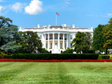 The White House South Lawn  Official Residence of the President of the US  Washington DC