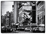 Urban Scene  Chinatown  Manhattan  New York  United States  Black and White Photography