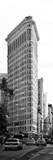 Vertical Panoramic of Flatiron Building and 5th Ave  Black and White Photography  Manhattan  NYC
