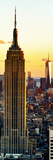 Empire State Building and One World Trade Center at Sunset  Midtown Manhattan  New York City