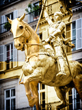 Equestrian Statue of Joan of Arc in the Square Pyramids  Paris  France