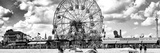 Panoramic View  Vintage Beach  Wonder Wheel  Coney Island  Brooklyn  New York