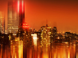 Urban Stretch Series  Fine Art  Newyorker  Manhattan by Night  New York  United States