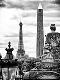 Place De La Concorde with Ancient Obelisk  Hotel Crillon and the Ministry of the Navy  Paris