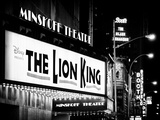 The Lion King in Minskoff Theatre at Times Square by Night  Manhattan  NYC