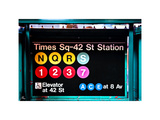 Subway Sign at Times Square  42 St Station  Manhattan  New York  White Frame  Full Size Photography
