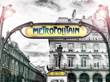 Art Deco Metropolitain Sign  Metro  Subway  the Louvre Station  Paris  France  Europe