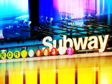 Urban Stretch Series  Fine Art  Subway  Colors  Times Square  Manhattan  New York City  US