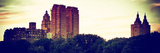 Panoramic Landscape  Central Park at Sunset  Manhattan  New York  Vintage Colors