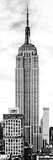Vertical Panoramic  Black and White Photography  Empire State Building  Manhattan  New York -Us