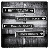 Signpost  the Louvre  Paris  France