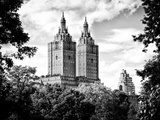 The San Remo Building  Central Park  Manhattan  New York  Black and White Photography