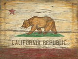 California Flag Wood Sign
