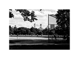 Baseball Game in Central Park  Manhattan  NYC  White Frame  Full Size Photography