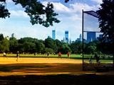 Baseball Game in Central Park  Manhattan  New York City  United States
