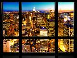 Window View  Landscape Manhattan City  Empire State Building  Manhattan  New York City