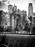 Architecture and Buildings  9/11 Memorial  1Wtc  Manhattan  NYC  USA  Black and White Photography