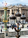 Lamps  Place De La Concorde  Hotel Crillon and the Ministry of the Navy  Paris  France
