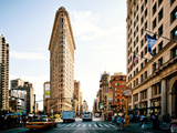 Vintage Colors Landscape of Flatiron Building and 5th Ave  Manhattan  New York City  United States