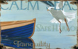 Calm Seas Wood Sign