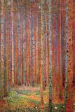 Tannenwald Poster par Gustav Klimt