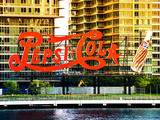 Pepsi Cola Bottling Sign  Long Island City  New York  United States  Colors Style