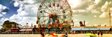 Panoramic View  Vintage Beach  Wonder Wheel  Coney Island  Brooklyn  New York  United States