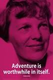 Amelia Earhart Adventure iNspire Quote Plastic Sign